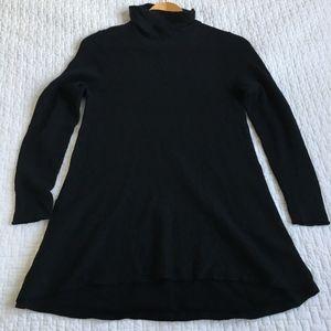 Eileen Fisher Black Soft Knit Turtleneck Sweater